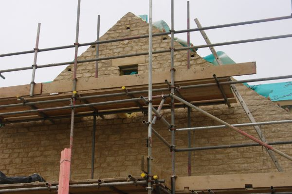 Swift nest boxes fitted in stonework Architect
